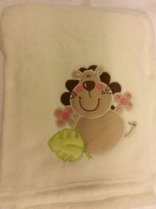 PERSONALISED BABY BLANKET - Lion - Personalise With a Name/Message Of Your Choice